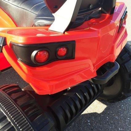 Полноприводный электроквадроцикл Grizzly красный (резиновые колеса, кожаное кресло, пульт, музыка)