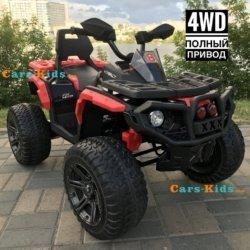 Электроквадроцикл Maverick ATV 4WD красный (полный привод, колеса резина, кресло кожа, музыка)